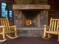 The Lodge: Outdoor Fireplace